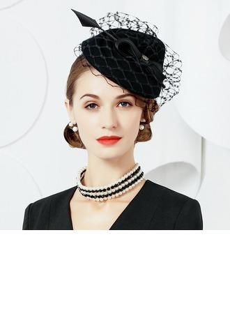 Señoras' Elegante Madera con Tul Tocados/Sombreros Tea Party