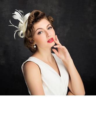 Señoras' Elegante Pluma/Tul con Pluma Tocados/Sombreros Tea Party