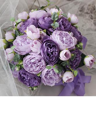 Şık yuvarlak ipek Çiçek Gelin buketleri - Gelin buketleri