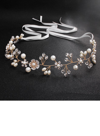 Damer Strass/Fauxen Pärla Pannband (Säljs i ett enda stycke)