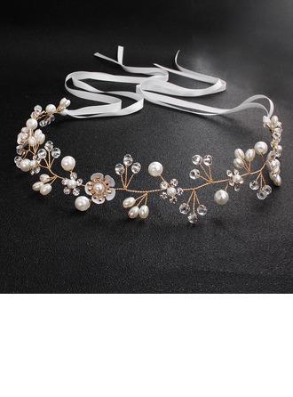Ladies Rhinestone/Imitation Pearls Headbands (Sold in single piece)