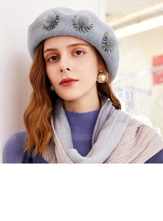 Dames Glamour/Élégante/Jolie Coton/Polyester avec Strass Béret Chapeau