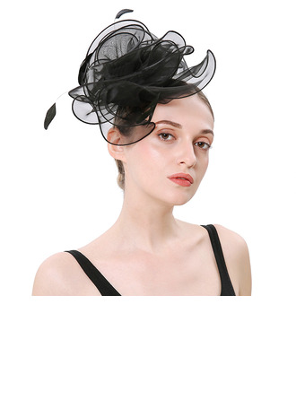 Ladies' Simple/Pretty Organza With Feather Fascinators