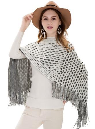 Plaid/Tassel Oversized/fashion/simple Cashmere Poncho