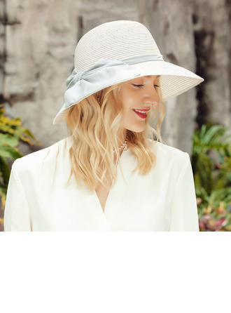 Ladies' Elegant/Exquisite Linen With Bowknot Floppy Hats