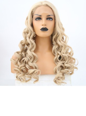 Loose Wavy Synteettinen Lace Front Peruukit 340g