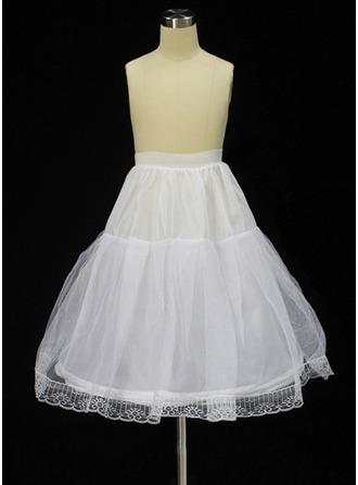 Girls Tulle Netting/Taffeta 2 Tiers Petticoats