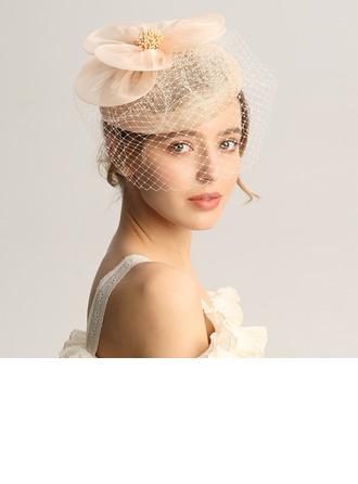 Dames Mode/Spécial/Glamour/Élégante/Unique/Fantaisie/Romantique/Style Vintage/Artistique Batiste/Fil net Chapeaux de type fascinator/Chapeaux Tea Party