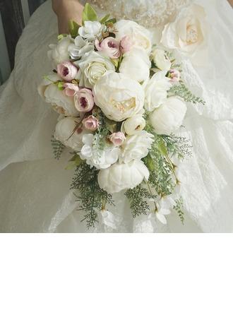 Cascade Soie/Tissu Bouquets de mariée -