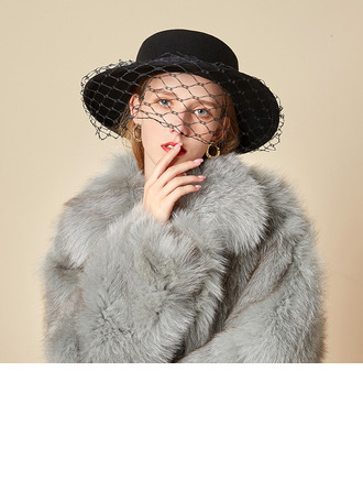 Dames Beau/Glamour/Charme Coton avec Tulle Chapeau melon / Chapeau cloche