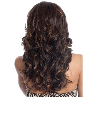 Attractive Long Capless Fluffy Kinky Curly Synthetic Side Bang Women's Wig