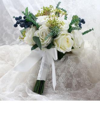 Lovely Käsin Sidottu Kankaalla/Nauha Morsiamen kukkakimppuihin