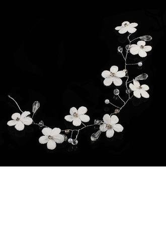Strass/Alliage/Fleur en soie Bandeaux avec Strass (Vendu dans une seule pièce)
