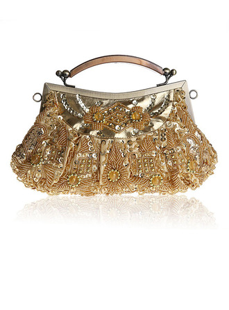 Elegant Polyester Clutches/Wristlets/Top Handle Bags/Bridal Purse/Evening Bags