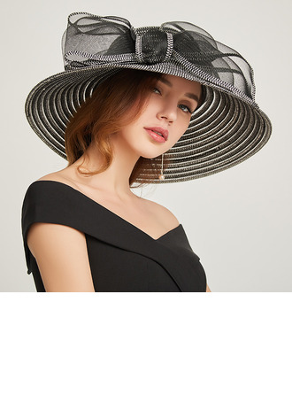 Damer' Klassisk stil/Söt Papyrus med Bowknot Beach / Sun Klobúky/Kentucky Derby Hattar/Tea Party Hattar