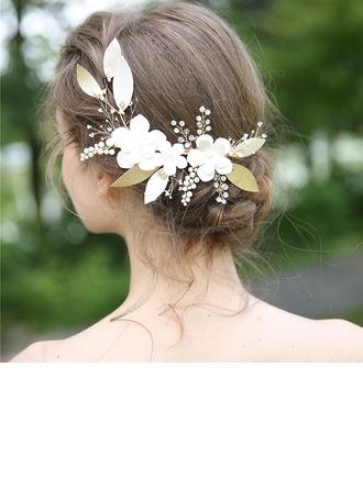 Dames Mooi Kristal/Strass/Legering/Imitatie Parel Haarspelden met Strass/Kristal (Verkocht in één stuk)