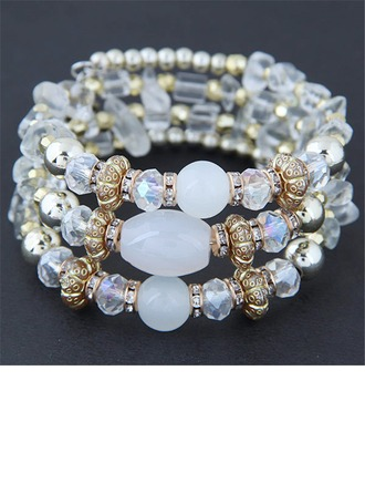 Shining Alloy Resin Ladies' Fashion Bracelets