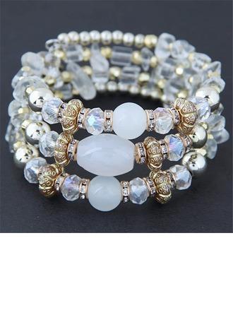 Brillant Alliage Résine Dames Bracelets de mode