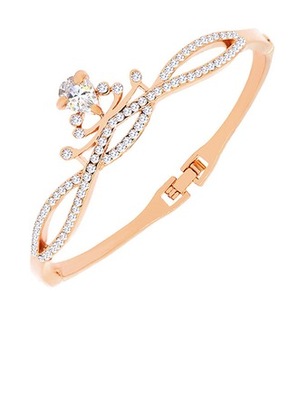 Luminoso Aleación Diamantes de imitación De mujer Pulseras de Moda