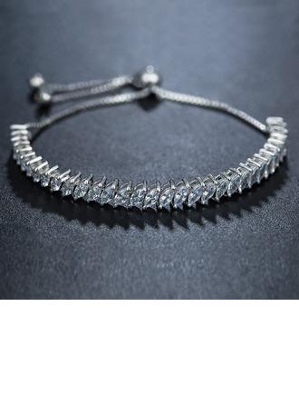 Anti-oxidatie Fijne ketting Bruids armbanden Bolo armbanden met Kubieke Zirkonia -