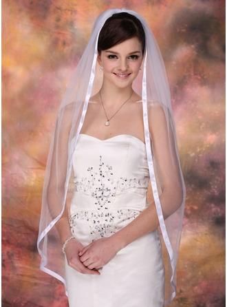 Einschichtig Walzer Braut Schleier mit Band Rand