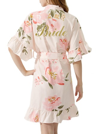 Personalized Bride Bridesmaid Cotton With Short Personalized Robes Kimono Robes