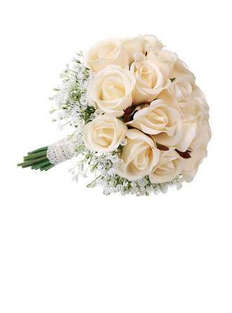 Girly Round Artificial Flower Bridal Bouquets - Bridal Bouquets