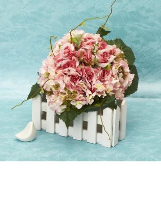 Superb Round Satin Bridal Bouquets -
