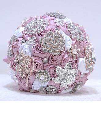 Rond Satiné/Strass Bouquets de mariée -