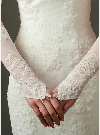 Tyl/Satin Elbow Længde Brude Handsker