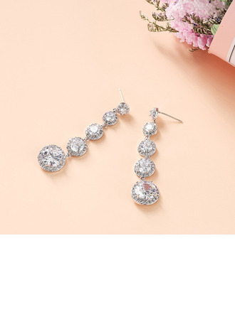 Ladies' Classic Alloy/Cubic Zirconia Cubic Zirconia Earrings For Bride