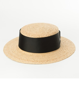Bayanlar Basit/El yapımı Rattan Straw Hasır Şapka/Kentucky Derby Şapkaları