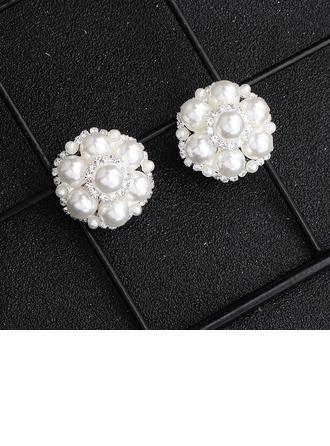 Damen Elegant Strasssteine/Faux-Perlen Ohrringe Ihr/Freunde/Braut/Brautjungfern/Blume Mädchen