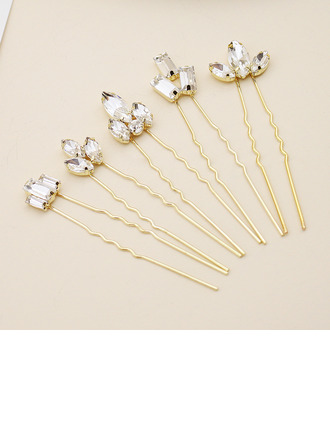 Ladies Stylish Alloy Hairpins With Rhinestone (Set of 5)
