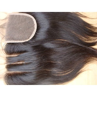 """4""""*4"""" 4A Non remy Straight Human Hair Closure (Sold in a single piece) 100g"""