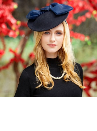 Ladies' Special Wool With Bowknot Bowler/Cloche Hat