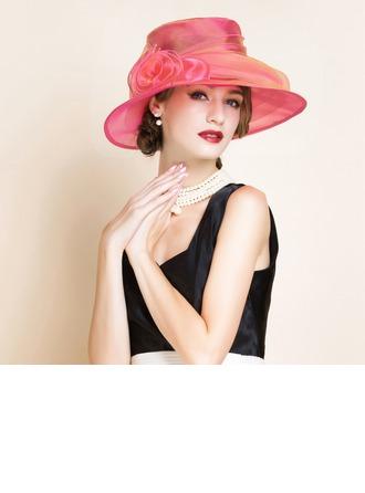 Sonar Naisten Loistokkaat Organzanauha jossa Kukka Levyke hattu/Kentucky Derbyn hatut/Tea Party Hatut