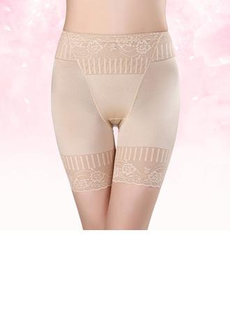 Kvinner Sexy/Elegant/Charme Spandex Kleur Ademend Hoge Taille Panty Shapers met Jacquard Corrigerend Ondergoed