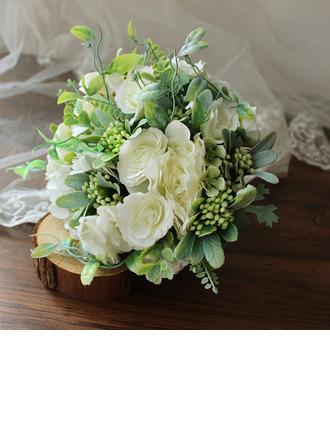 Hauskannäköinen Pyöreä Silkki kukka Morsiamen kukkakimppuihin - Morsiamen kukkakimppuihin