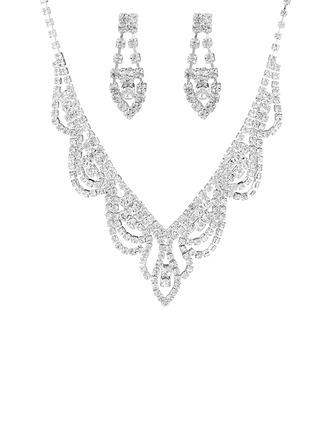 Señoras' Elegante Diamantes de imitación con Cojín Sistemas de la joyería
