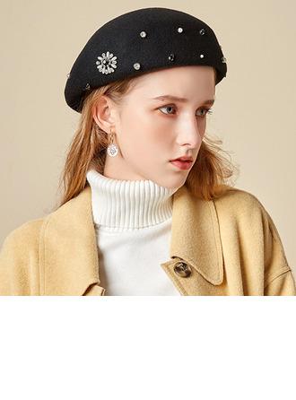 Dames Glamour/Charme/Romantique Coton avec De faux pearl Béret Chapeau