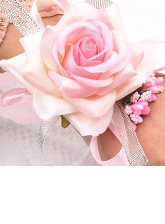 Atado a mano Flores Artificiales Ramillete de muñeca (vendido en una sola pieza) -