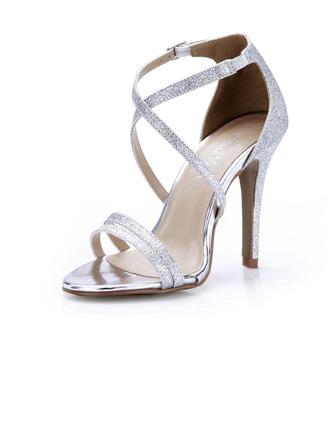 De mujer Brillo Chispeante Tacón stilettos Sandalias Salón zapatos
