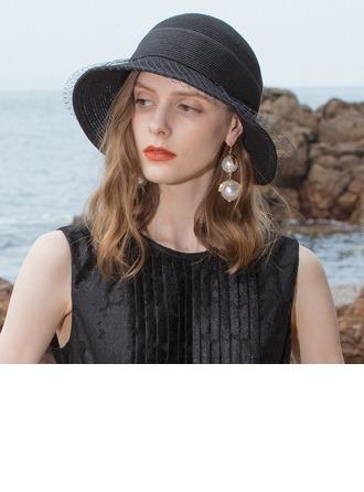 Señoras' Simple/Fantasía Papiro con Tul Sombreros Playa / Sol
