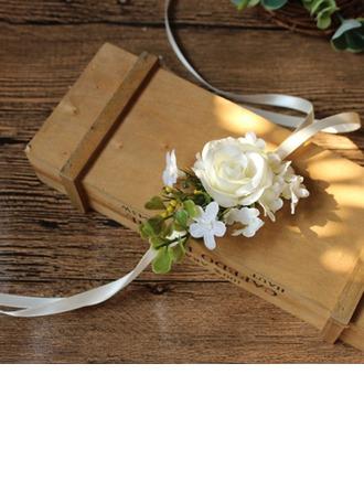 Lovely Silk pellava Ranne kukkakimppu/Boutonniere - Ranne kukkakimppu/Boutonniere