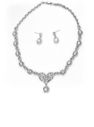 Signore Brillante rame/Placcato platino con ovale Cilindrata zircone I monili Il suo/Sposa