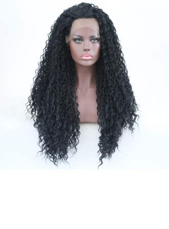 Curly Syntetiske Lace Front Parykker 340 g