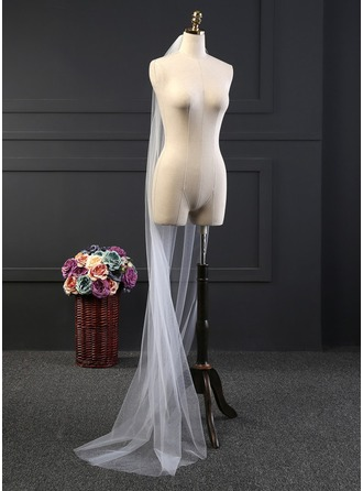 Uno capa Corte de borde Velos de novia capilla