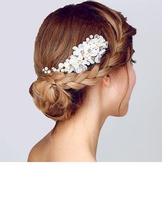 Glamourous Faux Pearl/İpek Çiçek Çiçekler ve tüyler