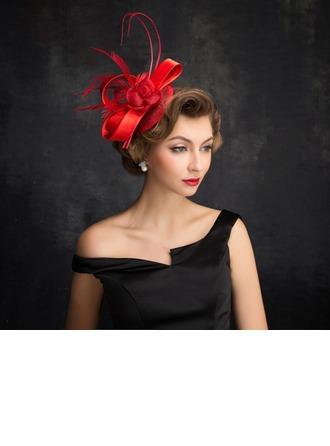 Señoras' Elegante Pluma/Tul/Lino con Pluma Tocados/Sombreros Tea Party